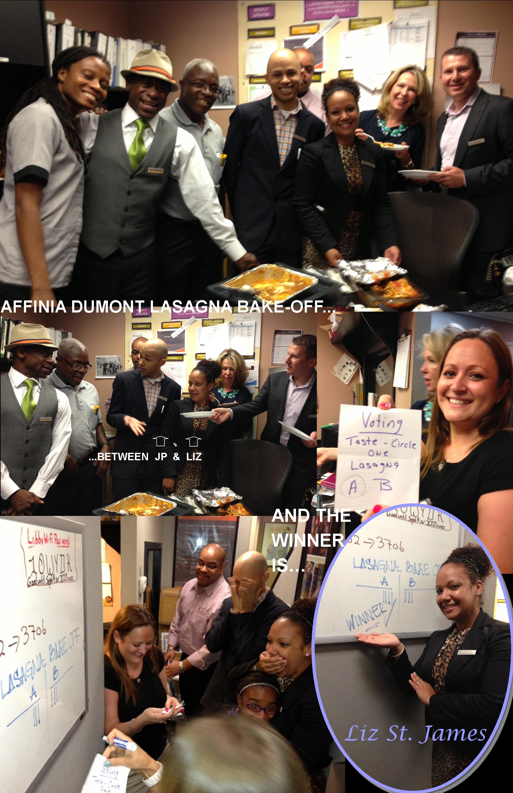 Affinia Dumont's First Annual Lasagna Bake-Off