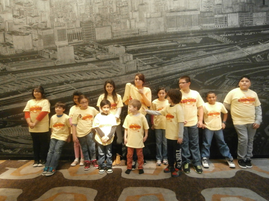 Group Picture with themed T-Shirts